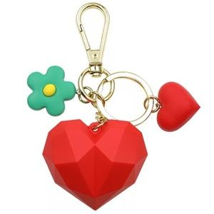 *ACACIA* Red Heart Fashion Pendant Keychain Ring